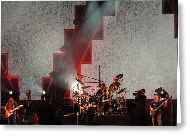 Greeting Card featuring the photograph Dmb Members by Aaron Martens