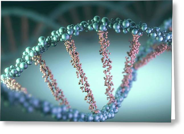 Dna Helix Greeting Card by Ktsdesign