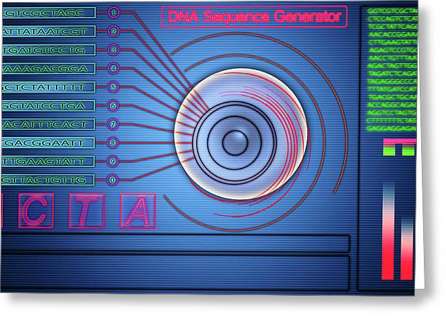 Dna Sequence Generator Greeting Card by Wladimir Bulgar