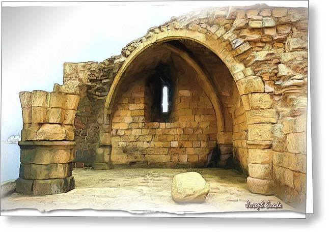 Greeting Card featuring the photograph Do-00427 Citadel Of Sidon by Digital Oil
