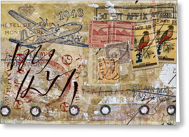 Do Not Affix Stamp Greeting Card by Carol Leigh