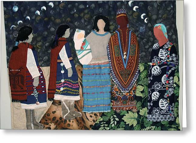 Do Not Judge A Women Until You Have Walked Two Moons In Her Moccasins Greeting Card by Beatriz Soco Ocampo