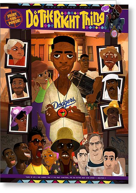 Do The Right Thing Greeting Card by Nelson Dedos Garcia