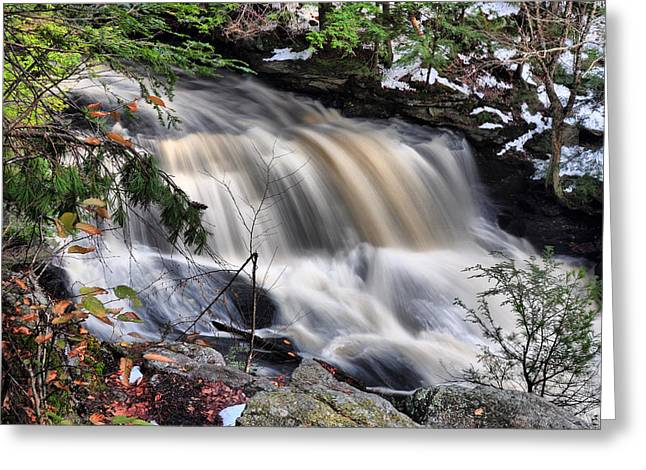 Doane's Lower Falls In Central Mass. Greeting Card by Mitchell R Grosky