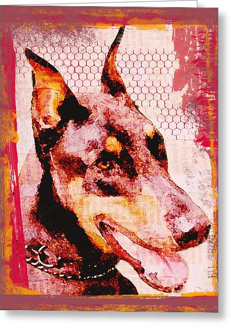 Doberman Love Greeting Card