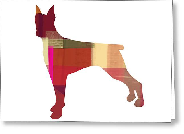 Doberman Pinscher Greeting Card by Naxart Studio