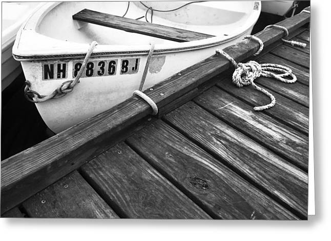 Dock And Ropes Greeting Card by Eric Gendron