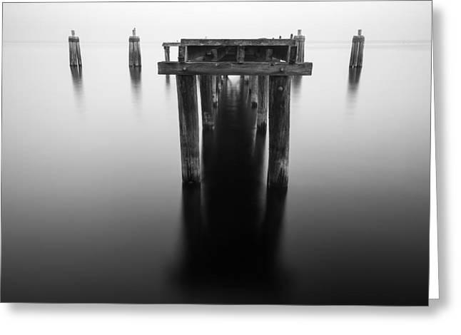 Dock At Twilight Greeting Card