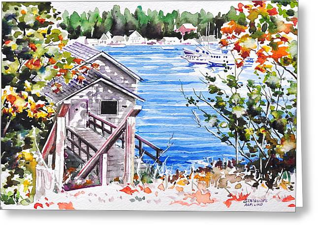 Harborview Drive View Greeting Card