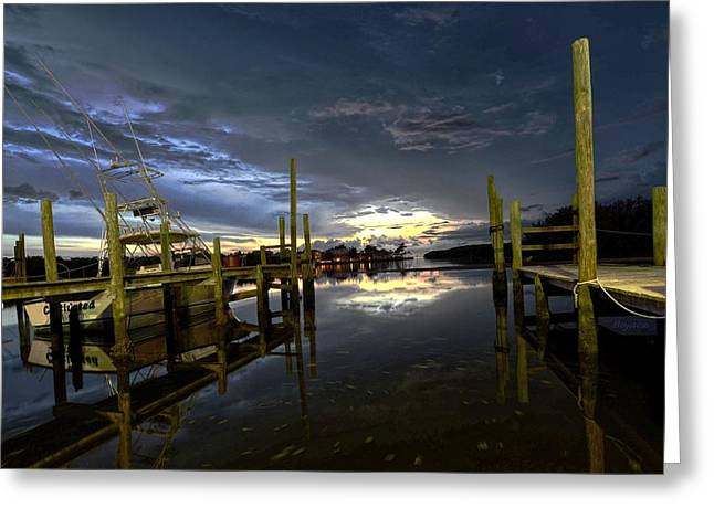 Dock Of The Bay Greeting Card by Bob Jackson