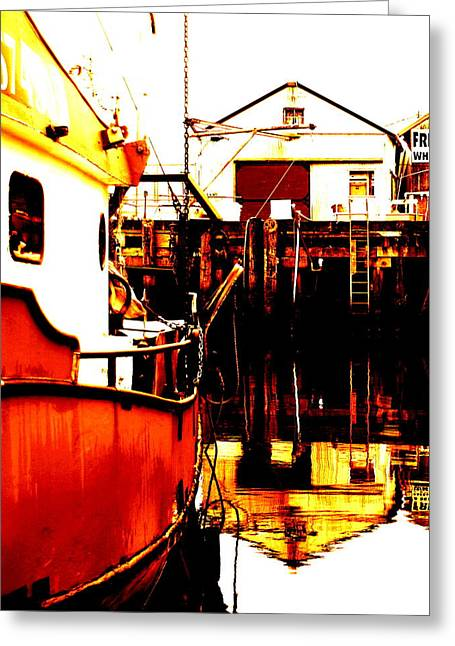 Dock Of The Bay Greeting Card by Mamie Gunning