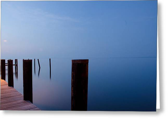 Dock Of The Morning Greeting Card by Gary Wightman