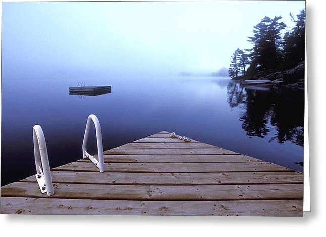 Dock On Lake, Parry Sound, Ontario Greeting Card