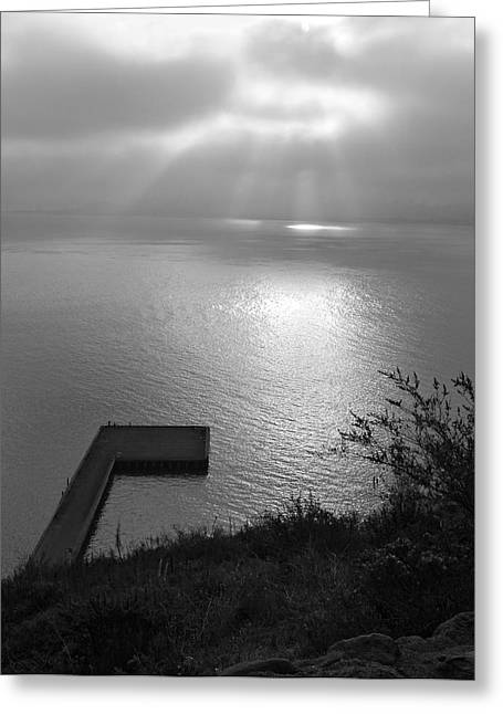 Greeting Card featuring the photograph Dock On San Francisco Bay by Scott Rackers