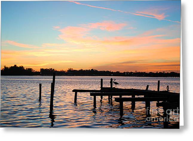 Greeting Card featuring the photograph Dock On The Bay by Margie Amberge