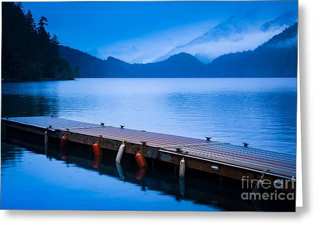 Dock On The Lake Greeting Card