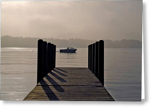 Dock Shadows Greeting Card