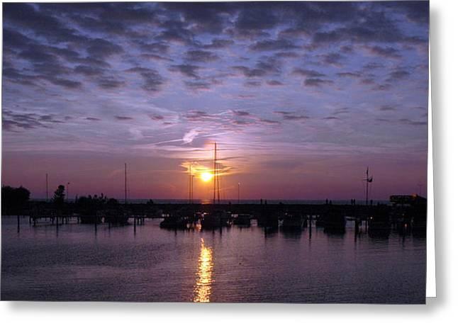 Dock Sunset Greeting Card