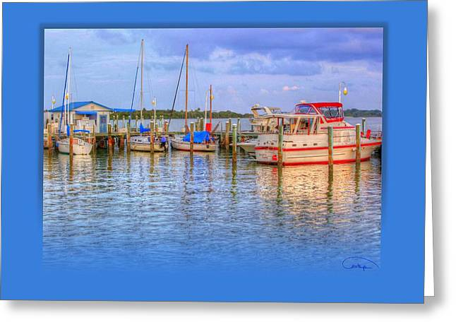 Docked For The Day Greeting Card by Tammy Thompson