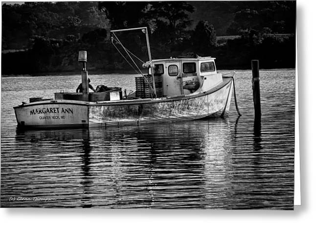 Docked For The Night Greeting Card by Glenn Thompson