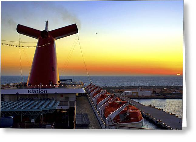 Docking At Progreso Greeting Card by Jason Politte