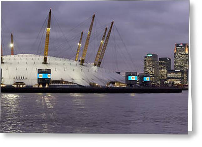 Docklands Greeting Card by Richard Allen