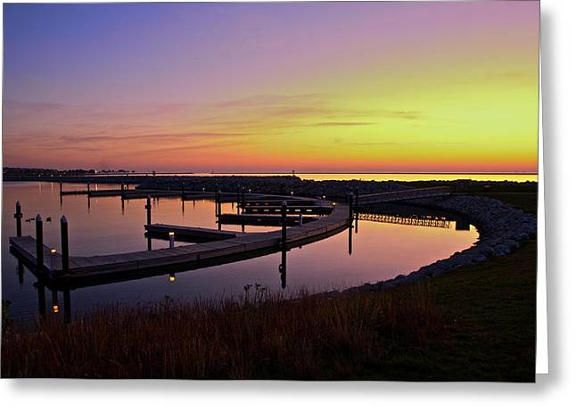 Greeting Card featuring the photograph Docks At Sunrise by Jonah  Anderson