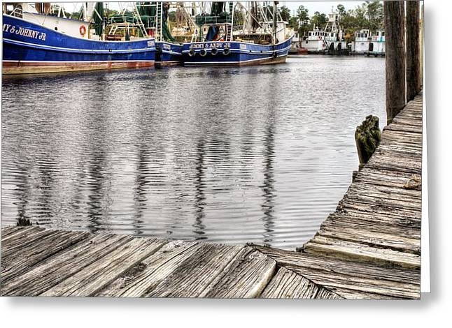 Docks Of Bayou La Batre Greeting Card