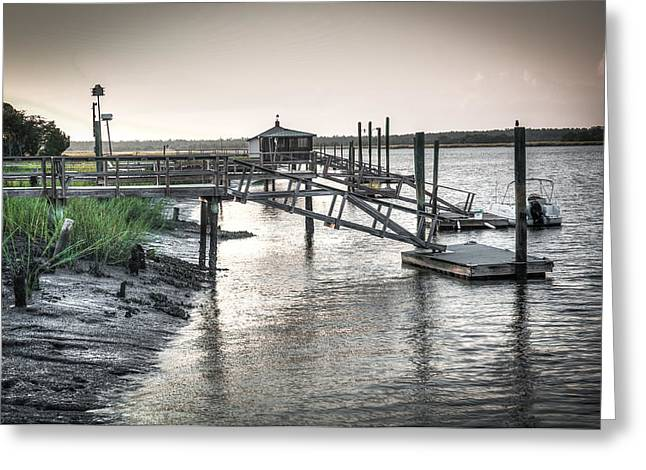 Docks Of The Bull River Greeting Card