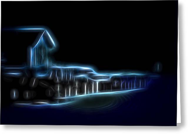 Dockside Moonlight Greeting Card
