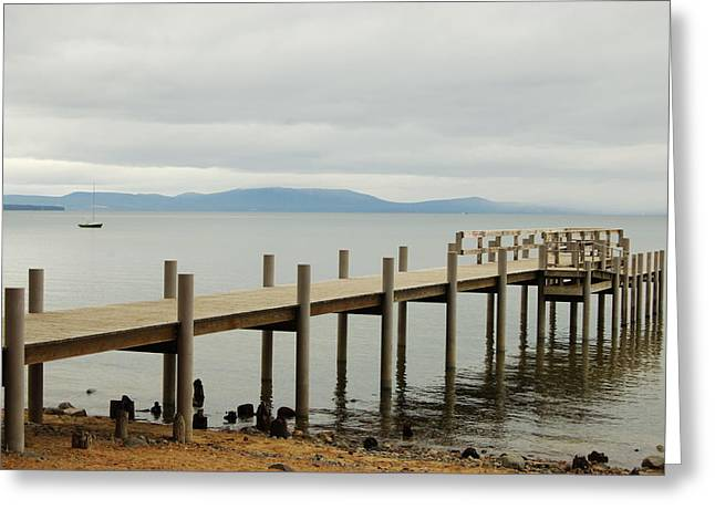 Greeting Card featuring the photograph Dockside by Tamyra Crossley