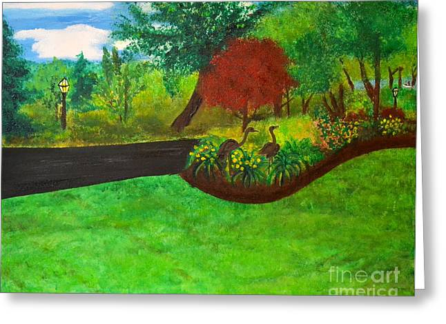 Greeting Card featuring the painting Doc's Landscape by Denise Tomasura