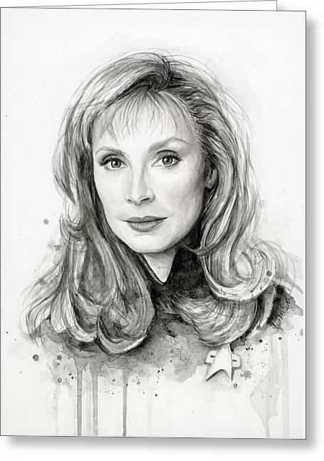 Doctor Beverly Crsuher Greeting Card by Olga Shvartsur