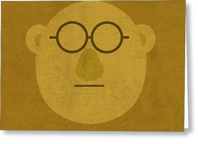 Doctor Bunson Honeydew Vintage Minimalistic Illustration On Worn Distressed Canvas Series No 004 Greeting Card by Design Turnpike