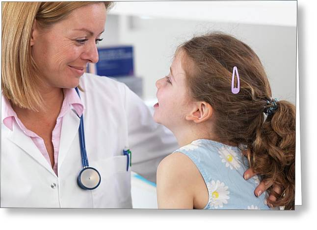 Doctor Caring For Patient Greeting Card