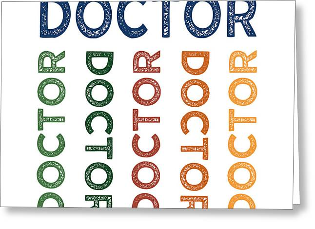 Doctor Cute Colorful Greeting Card by Flo Karp