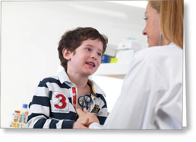 Doctor Examining Child Greeting Card