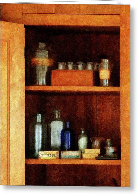 Doctor - Medicine Chest With Asthma Medication Greeting Card by Susan Savad