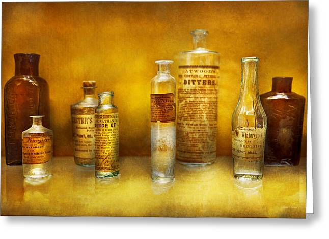 Medication Greeting Cards - Doctor - Oil Essences Greeting Card by Mike Savad