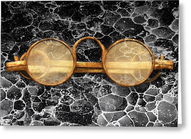 Doctor - Optometrist - Glasses Sold Here  Greeting Card by Mike Savad