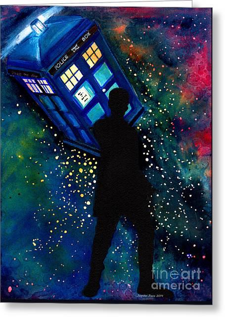 Doctor Who Am I A Good Man Greeting Card by Jennifer Pavia