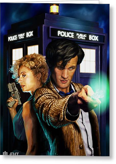 Doctor Who Greeting Card by FHT Designs