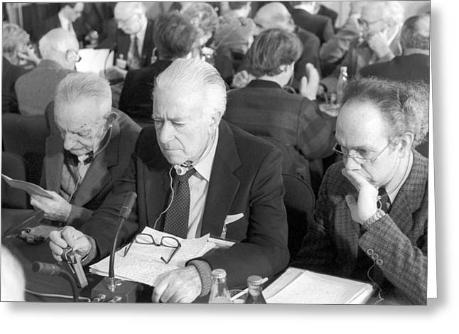 Doctors At Peace Conference, Moscow 1987 Greeting Card by Science Photo Library