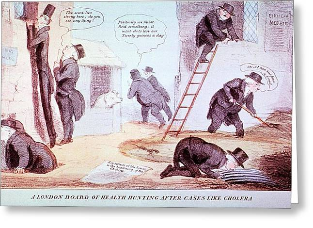 Doctors Investigating Cholera Greeting Card by National Library Of Medicine