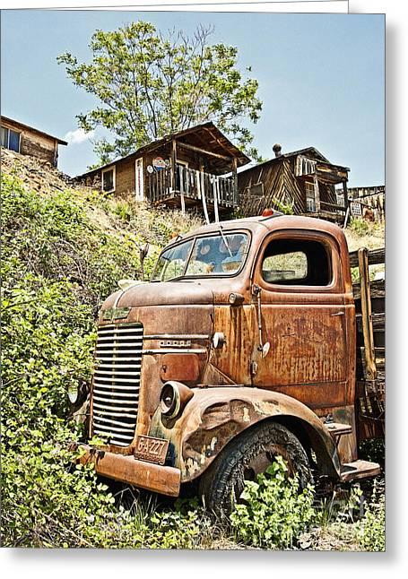 Dodge At The Mining Camp Greeting Card