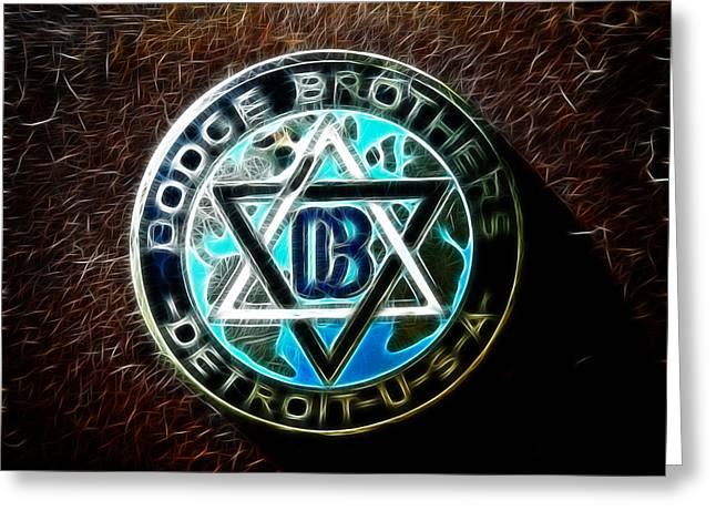 Dodge Brothers Emblem Greeting Card by Steve McKinzie