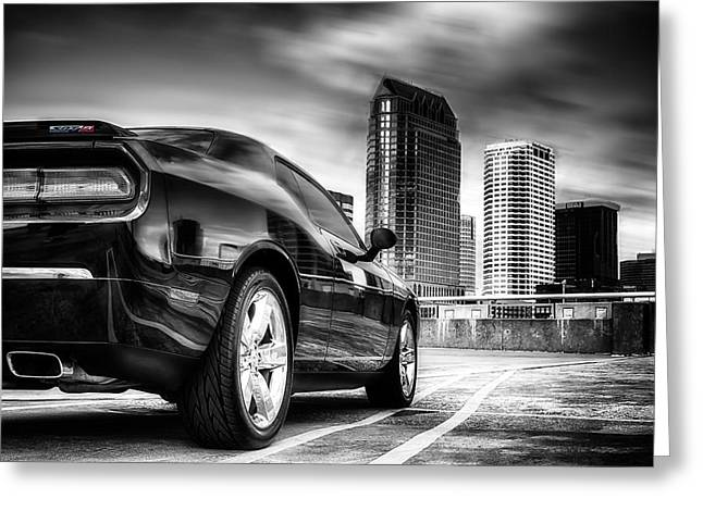 Dodge Challenger Tampa Skyline  Greeting Card