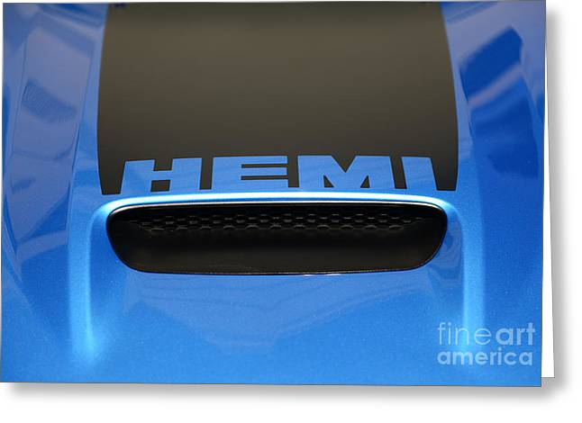 Dodge Charger Hemi Greeting Card by Paul Ward