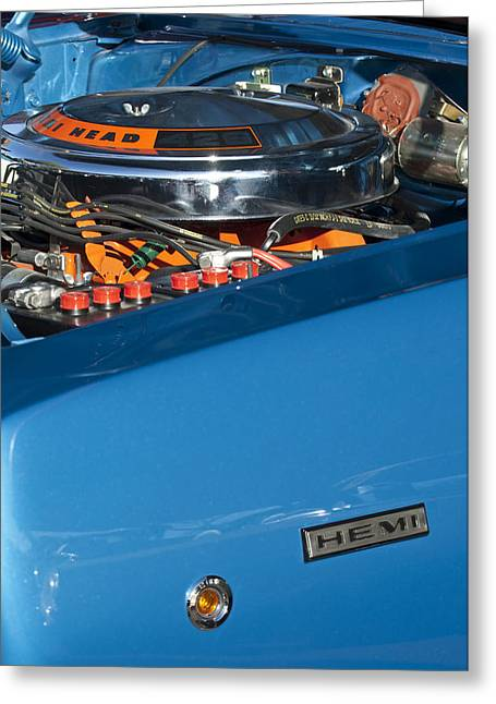 Dodge Coronet 426 Hemi Head Engine Greeting Card