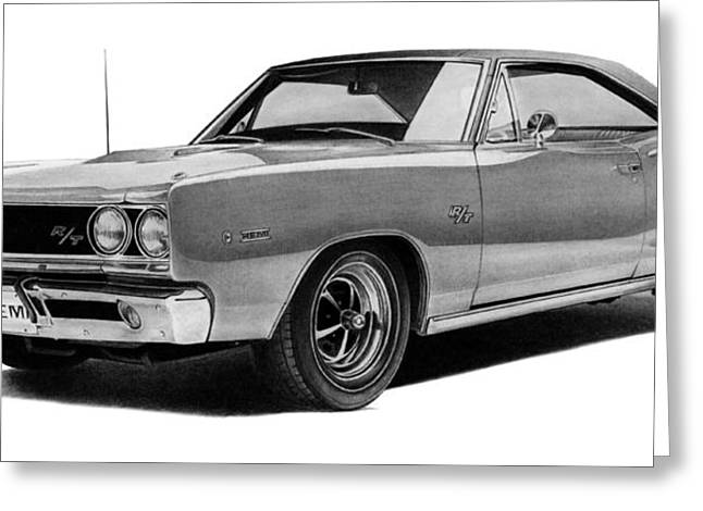 Dodge Coronet Greeting Card by Lyle Brown